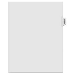 KLF81023 - Kleer-Fax® 80000 Series Exhibit Alpha Side Tab Legal Index Divider