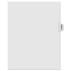 KLF81024 - Kleer-Fax® 80000 Series Exhibit Alpha Side Tab Legal Index Divider