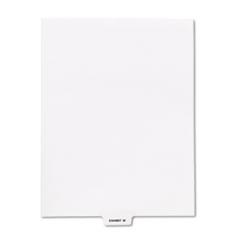 KLF81152 - Kleer-Fax® 80000 Series Exhibit Alpha Bottom Tab Legal Index Divider