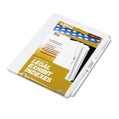 KLF81172 - Kleer-Fax® 80000 Series Side Tab Legal Index Divider Set