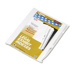 KLF82216 - Kleer-Fax® 80000 Series Numerical Side Tab Legal Index Divider
