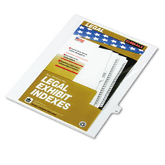 KLF82219 - Kleer-Fax® 80000 Series Numerical Side Tab Legal Index Divider