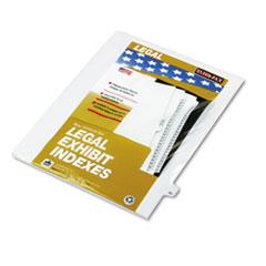 KLF82222 - Kleer-Fax® 80000 Series Numerical Side Tab Legal Index Divider