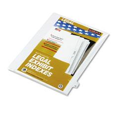 KLF82223 - Kleer-Fax® 80000 Series Numerical Side Tab Legal Index Divider