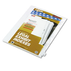 KLF82225 - Kleer-Fax® 80000 Series Numerical Side Tab Legal Index Divider