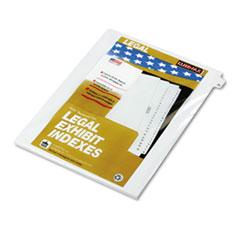 KLF82226 - Kleer-Fax® 80000 Series Numerical Side Tab Legal Index Divider