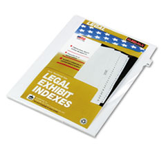 KLF82229 - Kleer-Fax® 80000 Series Numerical Side Tab Legal Index Divider