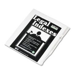 KLF82231 - Kleer-Fax® 80000 Series Numerical Side Tab Legal Index Divider