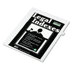 KLF82233 - Kleer-Fax® 80000 Series Numerical Side Tab Legal Index Divider