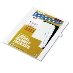 KLF82242 - Kleer-Fax® 80000 Series Numerical Side Tab Legal Index Divider