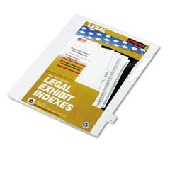 KLF82247 - Kleer-Fax® 80000 Series Numerical Side Tab Legal Index Divider