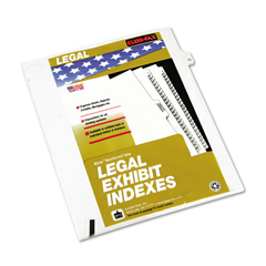 KLF82255 - Kleer-Fax® 80000 Series Numerical Side Tab Legal Index Divider