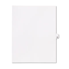 KLF82264 - Kleer-Fax® 80000 Series Numerical Side Tab Legal Index Divider
