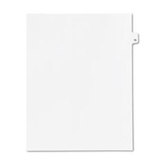 KLF82279 - Kleer-Fax® 80000 Series Numerical Side Tab Legal Index Divider