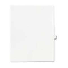 KLF82290 - Kleer-Fax® 80000 Series Numerical Side Tab Legal Index Divider