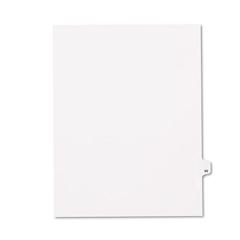KLF82295 - Kleer-Fax® 80000 Series Numerical Side Tab Legal Index Divider
