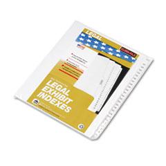 KLF83151 - Kleer-Fax® 80000 Series Side Tab Legal Index Divider Set
