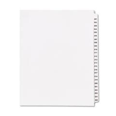KLF83201 - Kleer-Fax® 80000 Series Side Tab Legal Index Divider Set
