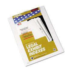 KLF84143 - Kleer-Fax® 80000 Series Exhibit Numerical Bottom Tab Legal Index Divider