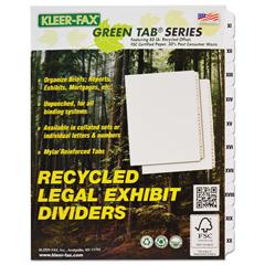 KLF86102 - Kleer-Fax® 80000 Series Roman Numerical Side Tab Divider Set