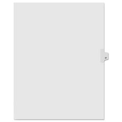 KLF91037 - Kleer-Fax® 90000 Series Numerical Side Tab Legal Index Divider