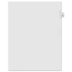 KLF91055 - Kleer-Fax® 90000 Series Numerical Side Tab Legal Index Divider