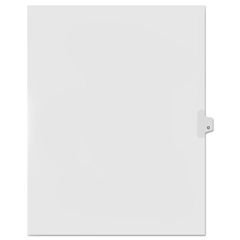 KLF91815 - Kleer-Fax® 90000 Series Alpha Side Tab Legal Index Divider