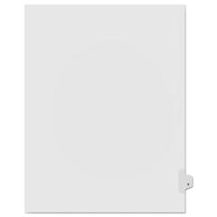 KLF91824 - Kleer-Fax® 90000 Series Alpha Side Tab Legal Index Divider