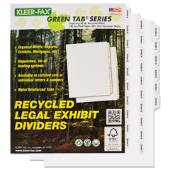 KLF91850 - Kleer-Fax® 90000 Series Alpha Side Tab Legal Index Divider