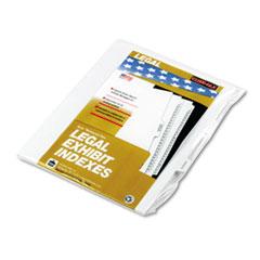 KLF91857 - Kleer-Fax® 90000 Series Exhibit Alpha Side Tab Legal Index Divider