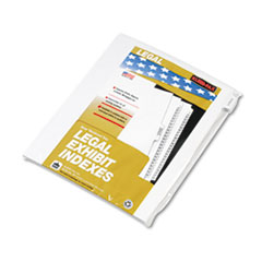KLF91861 - Kleer-Fax® 90000 Series Exhibit Alpha Side Tab Legal Index Divider