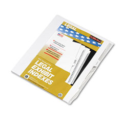 KLF91864 - Kleer-Fax® 90000 Series Exhibit Alpha Side Tab Legal Index Divider