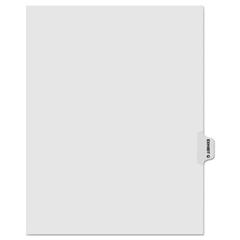 KLF91867 - Kleer-Fax® 90000 Series Alpha Side Tab Legal Index Divider