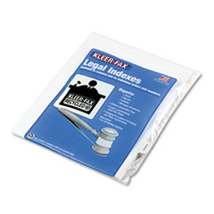 KLF91868 - Kleer-Fax® 90000 Series Exhibit Alpha Side Tab Legal Index Divider
