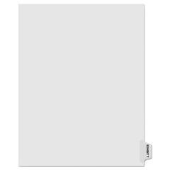 KLF91870 - Kleer-Fax® 90000 Series Alpha Side Tab Legal Index Divider