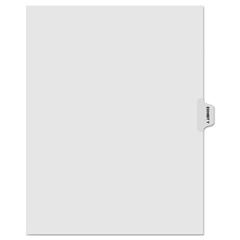 KLF91875 - Kleer-Fax® 90000 Series Alpha Side Tab Legal Index Divider