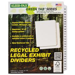 KLF91905 - Kleer-Fax® 90000 Series Side Tab Legal Index Divider Set