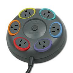KMW62634 - Kensington® SmartSockets® Color-Coded Six-Outlet Tabletop Surge Protector