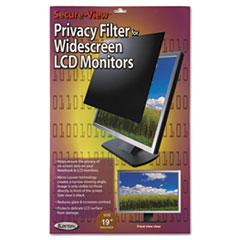 KTKSVL190W - Kantek Secure-View Black-Out Privacy Filter