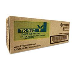 KYOTK592Y - Kyocera TK592Y Toner, 7,000 Page-Yield, Yellow