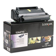 LEX12A4710 - Lexmark 12A4710 Toner, 6000 Page-Yield, Black