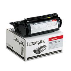 LEX12A5745 - Lexmark 12A5745 High-Yield Toner, 25000 Page-Yield, Black