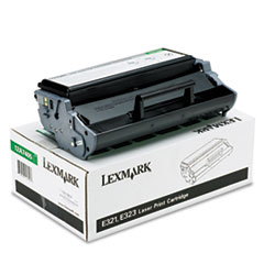 LEX12A7405 - Lexmark 12A7405 High-Yield Toner, 6000 Page-Yield, Black