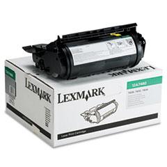 LEX12A7460 - Lexmark 12A7460 Toner, 5000 Page-Yield, Black
