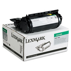 LEX12A7465 - Lexmark 12A7465 Extra High-Yield Toner, 32000 Page-Yield, Black