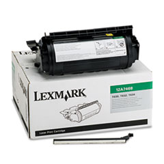LEX12A7468 - Lexmark 12A7468 High-Yield Toner, 21000 Page-Yield, Black