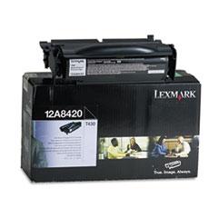 LEX12A8420 - Lexmark 12A8420 Toner, 6000 Page-Yield, Black