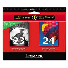 LEX18C1571 - Lexmark 18C1571 Ink, 2/Pack, Black; Tri-Color
