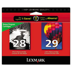 LEX18C1590 - Lexmark 18C1590 Ink, Black; Tri-Color