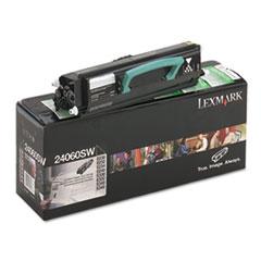 LEX24060SW - Lexmark 24060SW Toner, 2500 Page-Yield, Black